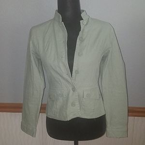 Ashley casual green button down blazer